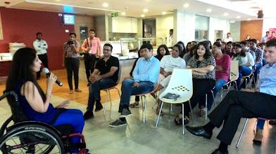 Photo: Self Advocate Sunita Sancheti at L'Oreal HR India Workshop, Mumbai