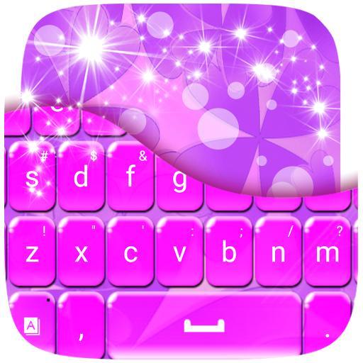 个人化のラッキーパープルGOキーボード LOGO-HotApp4Game
