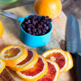 Blood Orange and Blueberry Sangria.