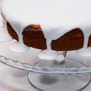 Carrot Cake with Royal Icing.