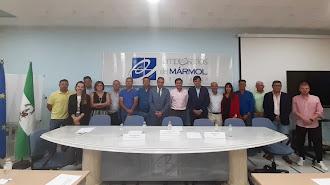 Foto de familia de la nueva Junta Directiva elegida este jueves.