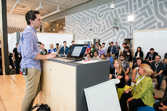 Photo: Box Talks let attendees interact with Googlers in smaller, more casual conversations.