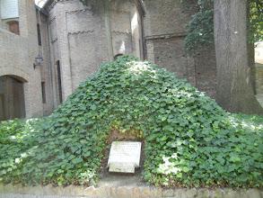 Photo: A mound where Dante's bones were hidden from the Nazis during World War II.