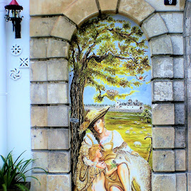 A painting in an arch by Svetlana Saenkova - Buildings & Architecture Architectural Detail ( painting, italy )