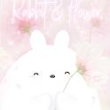 [임샤인] 핑크 봄 꽃 토끼 카카오톡 테마 (pink flower rabbit) icon