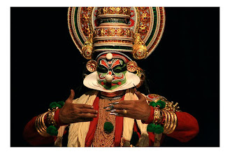Photo: Kadhakali- A form of dance, at the temple near my home
