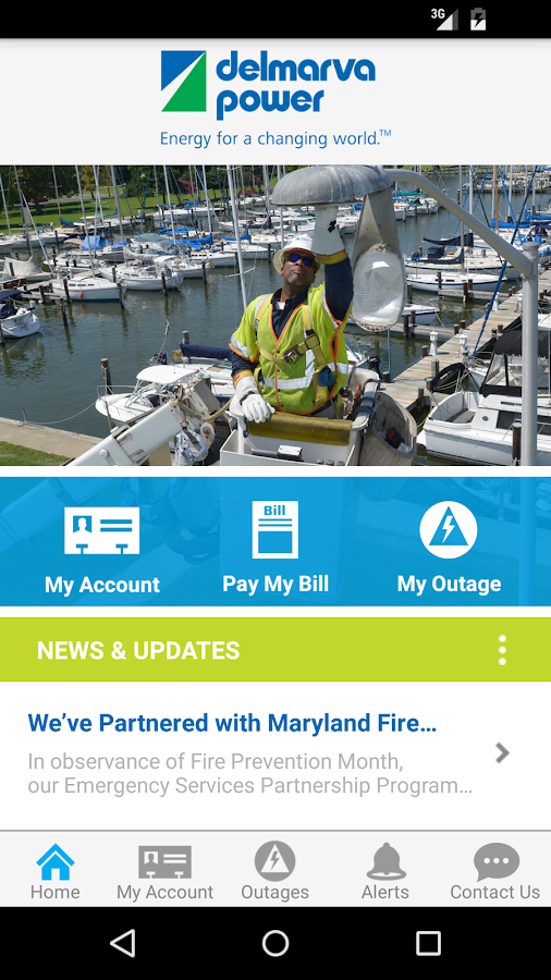 Delmarva Power Self-Service- screenshot