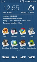 Screenshot of 3D ICON Go launcher theme