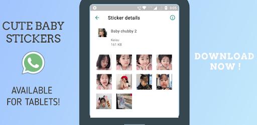 Korean Cute Baby Sticker For Whatsapp Gratis Programme Op Google Play