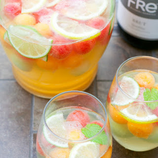 DIY Sparkling Melon Ball Sangria Recipe