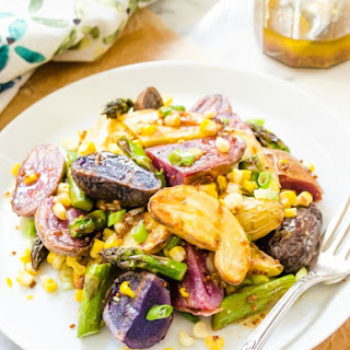 Grilled Fingerling Potato Salad with Whole Grain Mustard Vinaigrette