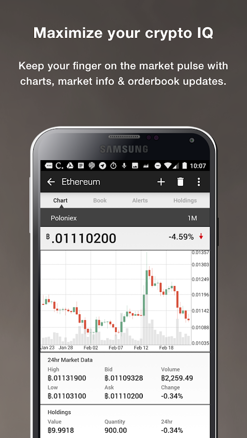 Blockfolio Bitcoin/Altcoin App – Screenshot