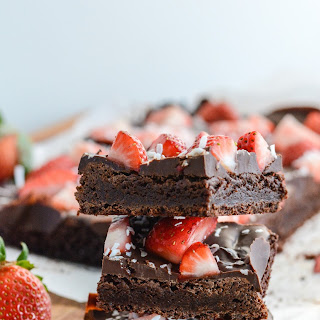 Double Chocolate Strawberry Coconut Brownies