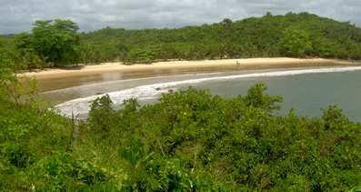Photo: the lovely Ezile secluded beach, Akwidaa, west coast, Ghana