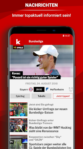 kicker Fuu00dfball News 5.7.0 screenshots 1