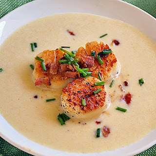 Pan-Seared Scallops with Corn Puree