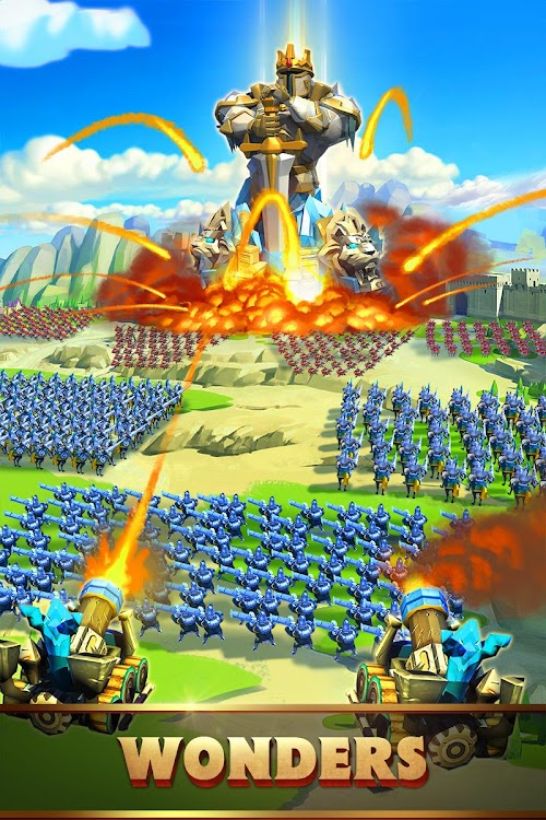 Screenshot 4 Lords Mobile: Battle of the Empires - Strategy RPG 1.84 APK+DATA MOD