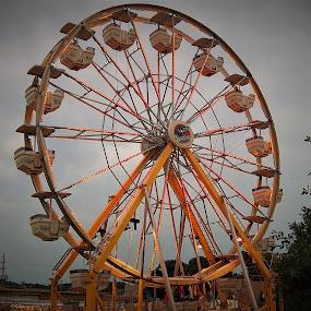 Ferris Wheel by R Sly - City,  Street & Park  Amusement Parks