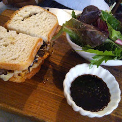 Chicken sandwich w Mushrooms on Gluten Free Bread ( specific name...don't recall ) was DELICIOUS!