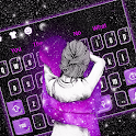 Lovely Galaxy Couple Keyboard Theme icon
