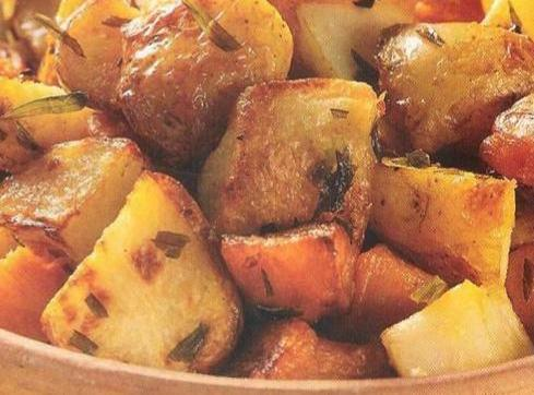 In a preheated 425-degree oven, roast the potatoes until browned and crisp, about 25...