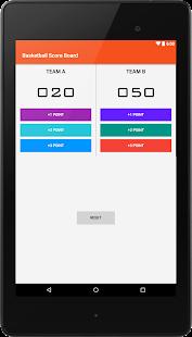 BasketBall ScoreBoard screenshot