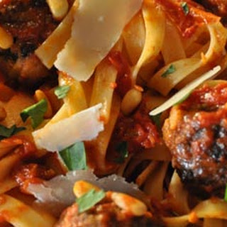 Pine Nut Lamb Meatballs with Pasta