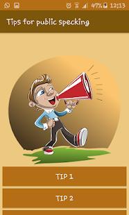 Tips for public speaking - náhled