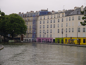 Photo: A wide and open area of the Canal gives us a better view of part of Paris which relatively few tourists see.