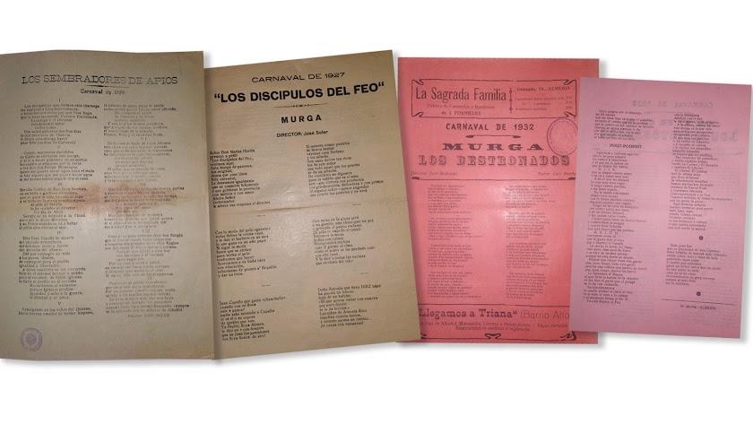 Documentos rescatados del Archivo Histórico Provincial relativos al Carnaval de Almería.