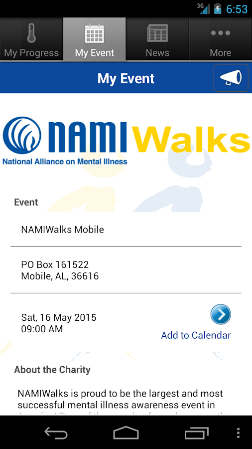 NAMIWalks - screenshot