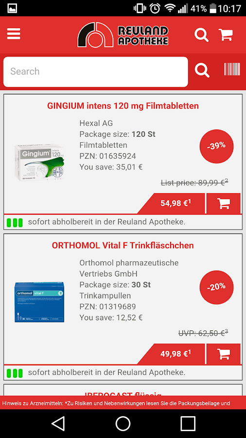 Reuland-Apotheke- screenshot