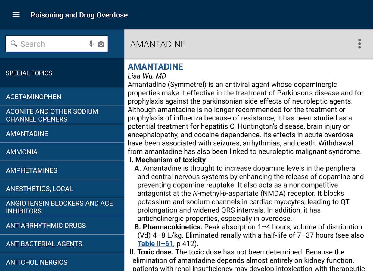 Poisoning and Drug Overdose- screenshot