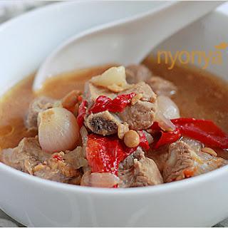 Stewed Pork Ribs with Bean Paste (Taucheo).