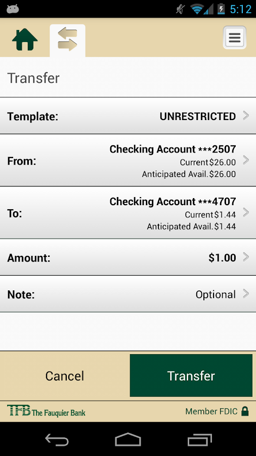 TFB Mobile Business Banking- screenshot