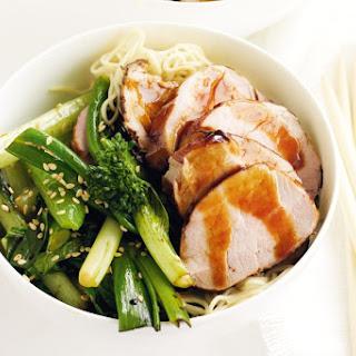 Hoisin Pork Fillet with Stir-Fried Chinese Greens Recipe
