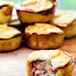 Turkey, Stuffing And Cranberry Pies