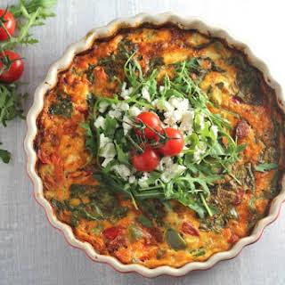 Roasted Tomato & Feta Frittata.