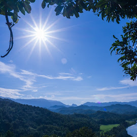 Shining in Maddo Hils by Ahmad Irfan - Landscapes Mountains & Hills ( framed, nature, hills, river, sun )