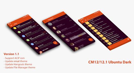 CM12 12.1 Ubuntu Dark Theme