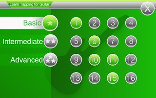Screenshot of Learn Tapping for Guitar