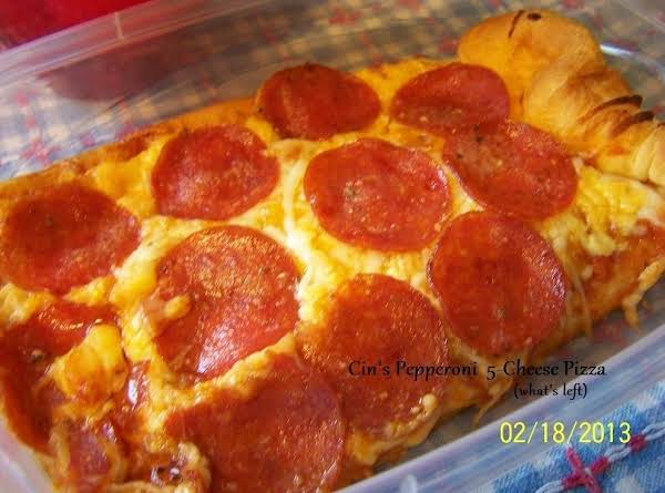 Cin's Pepperoni 5-cheese Pizza (what's Left Of It That Is)...pix By: Cinstraw