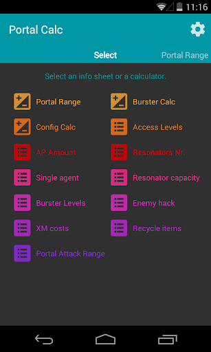 Portal Calc for Ingress v2.14 screenshots 5