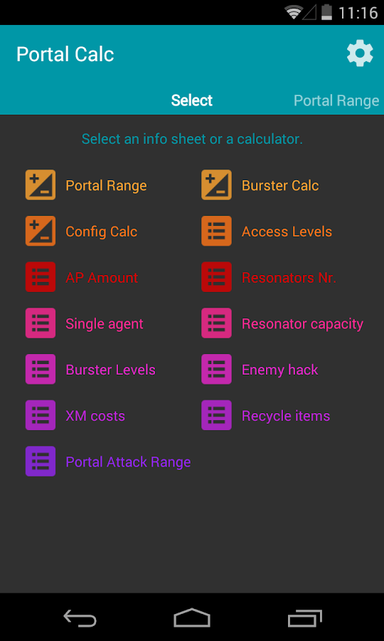 Portal Calc for Ingress- screenshot