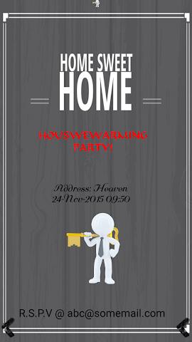 android Housewarming Invitation Maker Screenshot 2