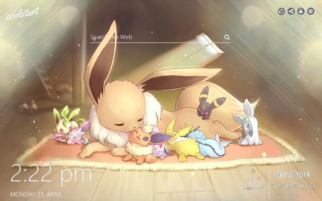 Eevee HD Wallpapers Pokemon New Tab Theme