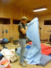 Photo: Martin køyer i trimrommet