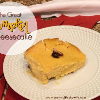 The Great Pumpkin Cheesecake