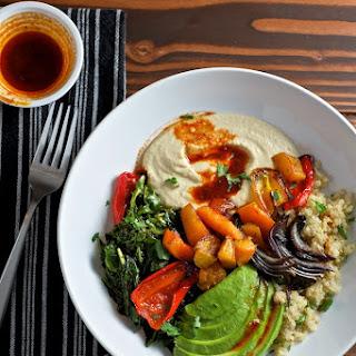 Quinoa Power Bowls with Avocado, Hummus, and Smoked Paprika Vinaigrette Recipe