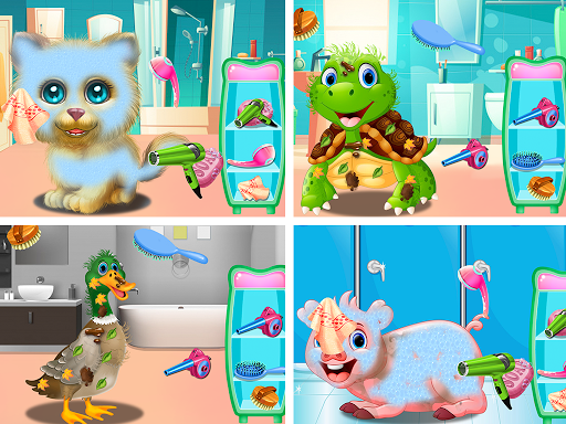 Pet Vet Care Wash Feed Animals - Animal Doctor Fun android2mod screenshots 9